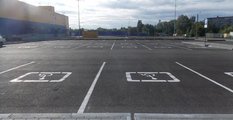 Сигнальная разметка паркингов и автостоянок